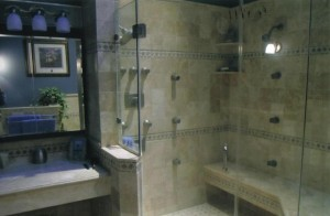 Custom Shower in Bathroom